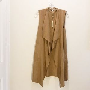 NWT. Max studio faux suede cascading duster